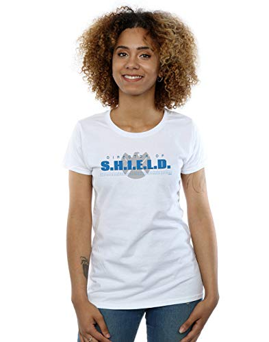 Marvel Mujer Agents of S.H.I.E.L.D. Director of S.H.I.E.L.D. Camiseta Blanco X-Large