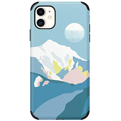 CUSTYPE Compatible with iPhone 11 Case Print Art Watercolor Pattern Cover Case Soft TPU Slim Shockproof Back Shell Case for iPhone 11 6.1 inch (Blue)