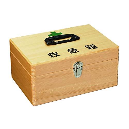 マイスコ木製救急箱(中) MY-4710(280X198X133) 救急箱