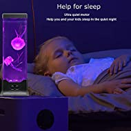Gifts for Kids Men Women Dad Mom Electric Jellyfish Night Light Home Office Room Desk Decor Lamp for Christmas Thanks Giving Holiday Birthday