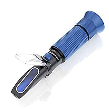 HYTOMATO Salinity Refractometer for Aquarium Salinity Tester with ATC and Dual Scale  0-100‰ & 1.000-1.070 Specific Gravity Saltwater Tester for Seawater Pool Fish Tank