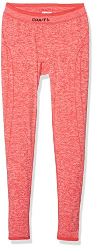 Craft Active Comfort JR – Pantalones Infantil Base Layer, Poppy, 146/152