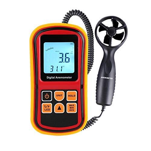 RENJIFAN Gm8901 Anemómetro Medidor de Velocidad del Viento Medidor de Temperatura Digital 45 M/S Termómetro Herramienta de Medición de Mano