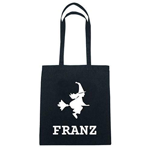 JOllify katoenen tas Halloween voor Frans BH5371 heks