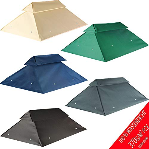 freigarten.de Replacement Roof for Gazebo 3 x 4 Metres Waterproof Material: Panama PCV Soft 370 g/m2 Extra Strong Model 7