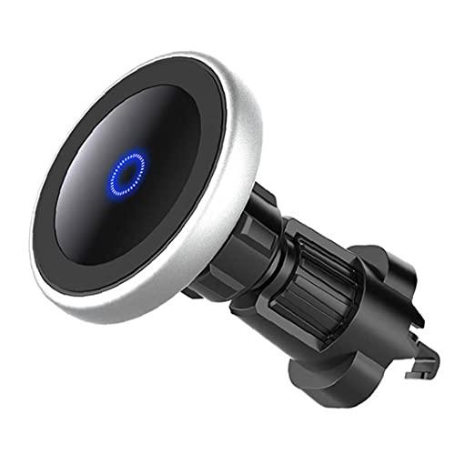 FeelMeet Coche inalámbrico N8 15W Cargador de teléfono Titular Soporte de Carga de Carga rápida Accesorios con rotación de 360 ??Grados Negro