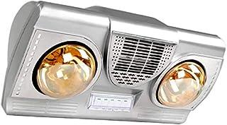 LNDDP Calentador eléctrico baño montado en la Pared con Extractor Aire y Bombilla calefactora, protección Seguridad, Cinco ajustes Modo, sin Necesidad Instalar combinación Termo-óptica