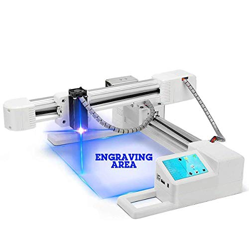 YAN'S 10000mW Off-line Laser Engraving Machine, USB PortableHousehold Engraver, Carver Size 155x175mm, Logo DIY for Craft Lover,High Speed Engraving Printer for Wood,Plastic,Leather,Acrylic(10W)