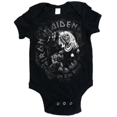 Iron Maiden NOTB Grey Tone - Body Bebé niños, Negro (Black), XL