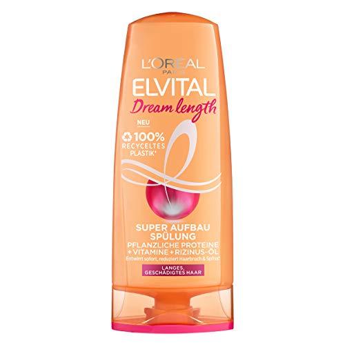 L'Oréal Paris Elvital Conditioner gegen Spliss, Für brüchiges Haar, Mit Rizinus-Öl, Dream Length Super Aufbau Spülung, 1 x 250 ml
