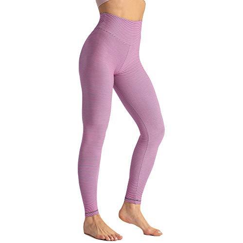 SUIYI Temporada de Verano Running Yoga Rosado Yoga Mujer Leggins Cintura Alta Fitness Yoga Leggings para Mujer Pantalones De Yoga De Cintura Alta