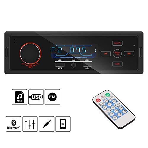 Autoradio Bluetooth bedee Autoradio Bluetooth Vivavoce 40W x 4 Universale 1 din In-Dash bluetooth autoradio, lettore USB/AUX / MP3 / radio AM/FM per Samsung/Iphone/Android/Smart Phone