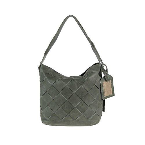 Cowboysbag Amsterdam Tasche Amble Leder Handtasche Schultertasche Grau Hobo Bag