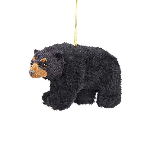 Kurt Adler 4.5-Inch Plush Black Bear Ornament