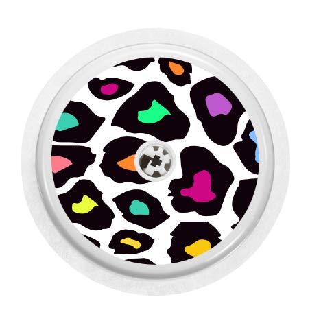 Adhesivo de vinilo con diseño de leopardo color neón para sensores libres de la marca Freestyle