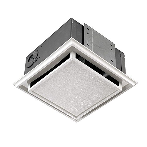 Broan-Nutone 682 Duct-Free Ventilation Fan, White Square Ceiling or Wall Exhaust Fan with Plastic...