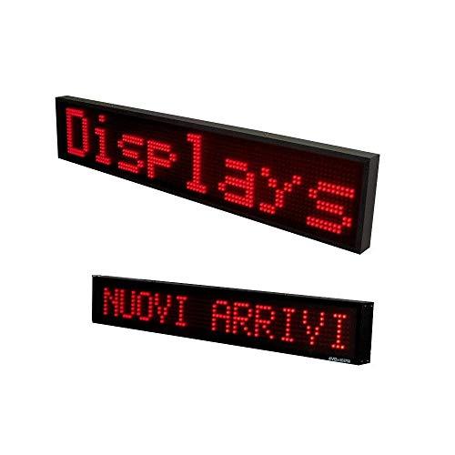 TrAdE Shop Traesio INSEGNA Luminosa A LED Scritta Personalizzata Scorrevole Luce Rossa 100 X 20 CM