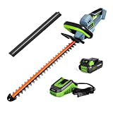 WORKPRO 20V Cordless Hedge Trimmer, 20' Dual Action Blades Electric Gardening Tool, 2.0Ah Battery...