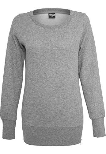 Urban Classics dames pullover Ladies Side Zip Long Crewneck