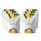 Thrive Life Pineapple Snackies | Pack of 6 | Healthy Freeze Dried Snacks | Amazing Taste | Non GMO, Gluten-Free | Perfect for On The Go, Sack Lunches and Hiking