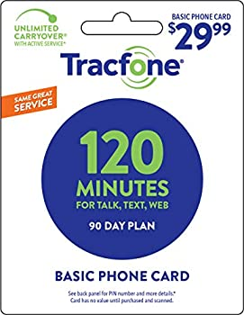 Tracfone 120 Minutes / Units for 90 Days - Tracfone Nationwide Prepaid Wireless Refill Pin  Mail Delivery