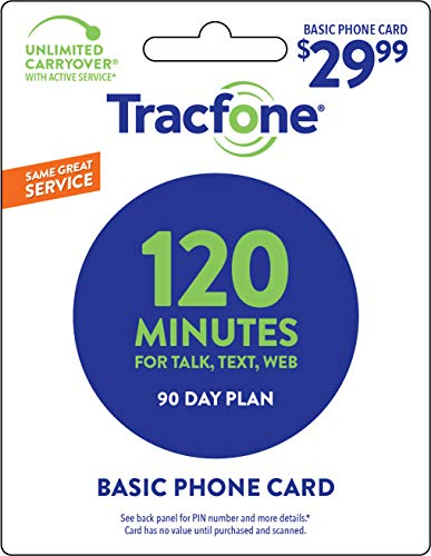 cheap Tracfone 120 minutes / unit, 90 days – Tracfone Nationwide Prepaid Wireless Refill Pin (Mail…