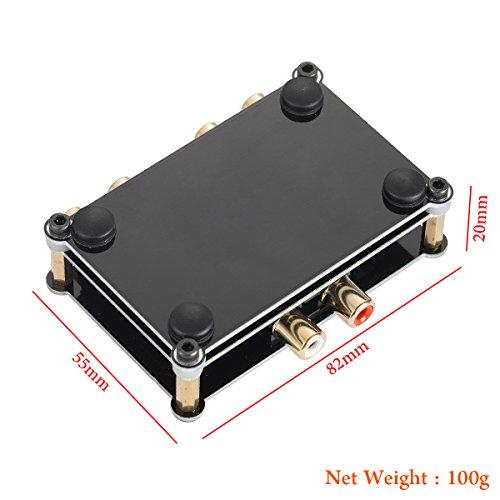 Nobsound Little Bear mc1022 Mini Stéréo 2 voies L / R Sélecteur Audio RCA Passif Switcher Switcher Splitter Box