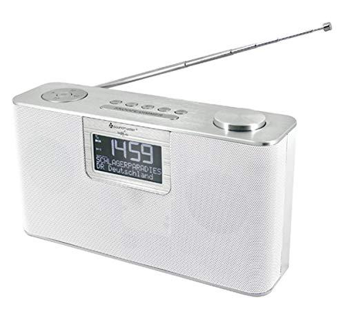 Soundmaster DAB700WE tragbares DAB+ und UKW Radio mit USB und Bluetoothfunktion