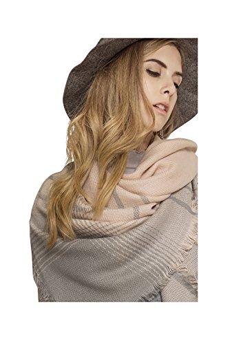 Metrust Plaid Square Scarf Women Checked Shawl Long Scarves Warm Tartan Blanket Cape