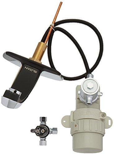 SLOAN ebf-85–4-bdm Badezimmer Wasserhahn, Optima Plus batteriebetrieben, Faser Automatische W/Trim Teller und mechanische mischen Ventil–Chrom