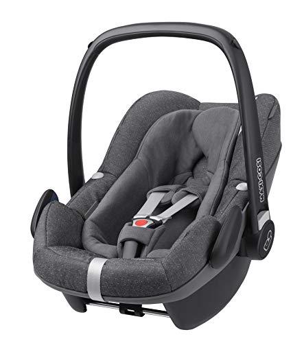 Maxi-Cosi Pebble Plus Silla Coche Grupo 0+ para bebé recien nacido hasta 12 meses, (45-75cm), I-Size, confortable reductor, material absorbe impactos, Puede subirse al avión, color Sparkling grey