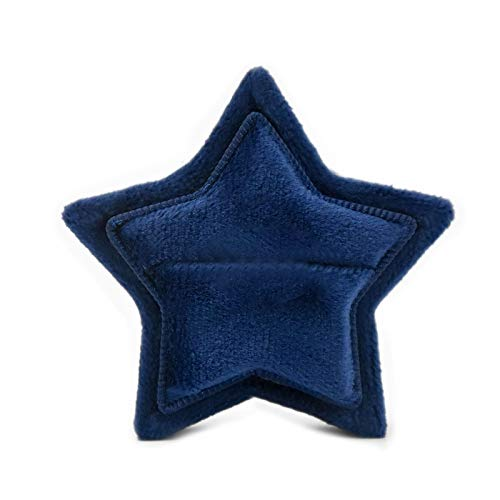 Fugift Star Velvet Ring Box - Soporte de anillo con tapa desmontable para ceremonia de boda, propuesta de compromiso, troquelado para scrapbooking Boy
