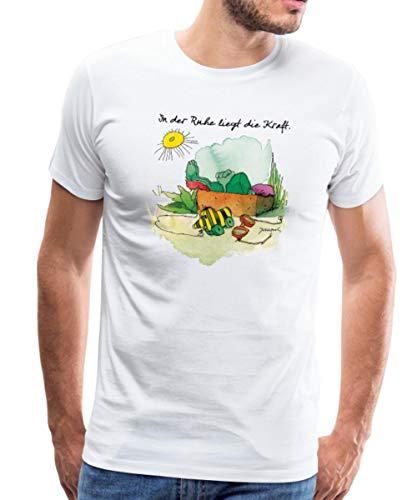 Janosch Günter Kastenfrosch Tigerente In Der Ruhe Männer Premium T-Shirt, M, Weiß