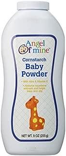 Angel of Mine Cornstarch Baby Powder - 9 Oz. (2 Pack)