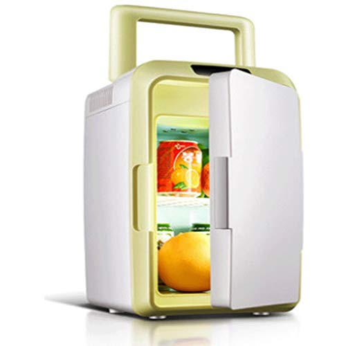 Mini Nevera,Mini Fridge, Compacta mini refrigerador de 10 litros vertical y horizontal pequeña nevera pequeña nevera Incluye estantes desmontables for coches Ministerio del Interior Mini Refrigerador