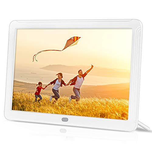 toberto Digital Photo Frame with 1920x1080 IPS Screen with 32G SD Card, Digital Picture Frame Support Adjustable Brightness Photo Deletion 1080P Video Music Slideshow Remote 16:9 Widescreen(8 Inch) Digital Frames Picture