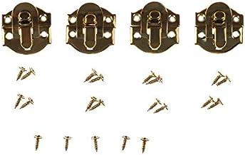 4 pct Bronze Gold Jewelry Chest Box Koffer Case Trunk Buckles Spoeltje Klink Catch Sluiting (Color : Red)