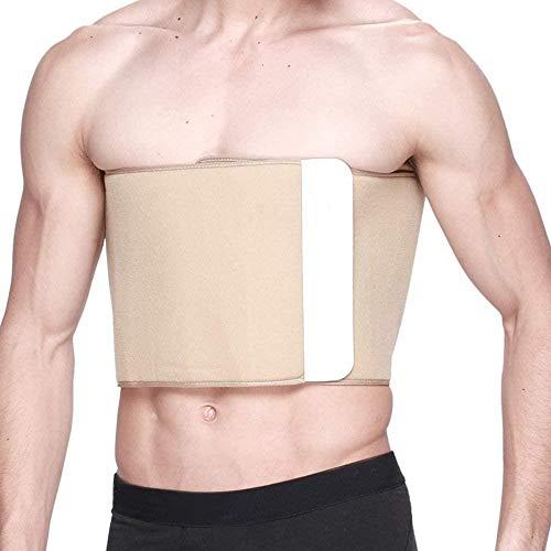 DLLY Bandage de Soutien Post-opératoire imprimé par Compression de Ceinture côtelée, idéal comme Bandage côtelé pour Hommes et Femmes en Cas de Fracture des côtes pour Une guérison Rapide, Kaki, L