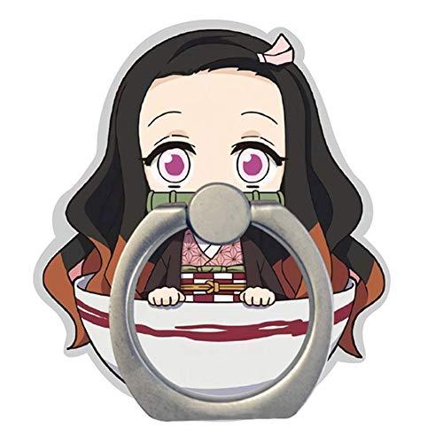 Ailin Online Demon Slayer: Kimetsu no Yaiba Telefoon Ring Houder, Kawaii Telefoon Vinger Ring Stand met 360 ° Rotatie Handgreep voor telefoons en tablets