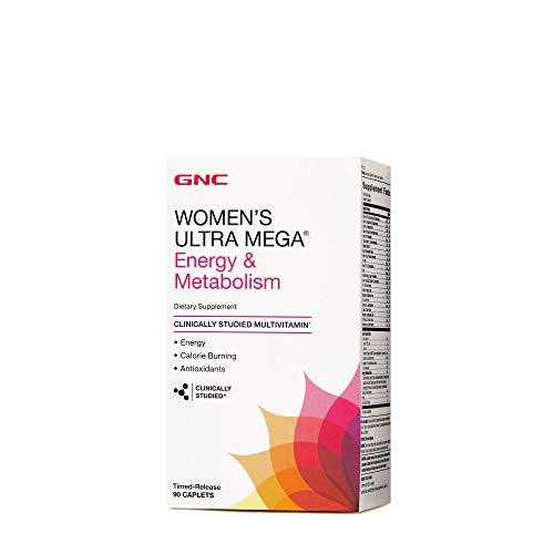 Ultra Womens Mega Energy e Metabolism Vitamina 90 Caps GNC