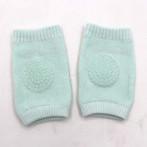 LIXUDECO Calcetines cálidos Par la rodilla del bebé cojines bebé rótula Protección gruesa malla transpirable calentadores de la pierna de algodón recién nacido rodillera antideslizante amortiguador de