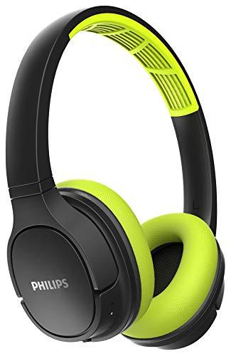 Fone de Ouvido Philips Sport BT Headphone Preto com Verde - TASH402LF/00