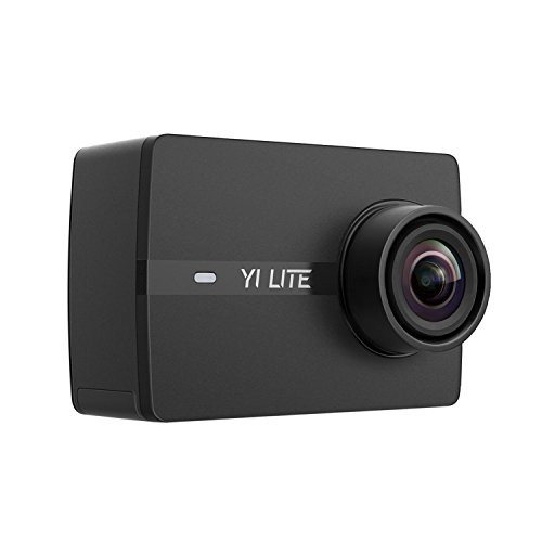 "YI Lite Action Camera 16MP WiFi 2.0"" LCD Touchscreen 150° Wide Angle 4K Sports Camera Sony Image Sensor 40M Waterproof Underwater Camera in Case (Case not Included) for Skiing Skating (Black)"