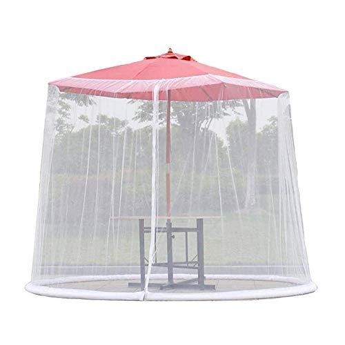 ZHTY Pantalla de Cubierta de sombrilla, Pantalla de Mesa de sombrilla de jardín Exterior Cubierta de mosquitera de Parasol, para Muebles de Patio con Cremallera, para sombrillas y mesas de Patio