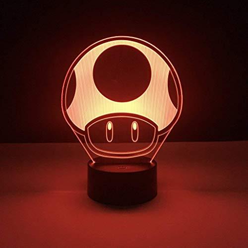 Spiel Super Mario 1 Up Pilz Kinder Led Nachtlampe Für Kind Schlafzimmer Dekorative 3D Lampe Batteriebetriebene Kühle Baby Nachtlicht 3D