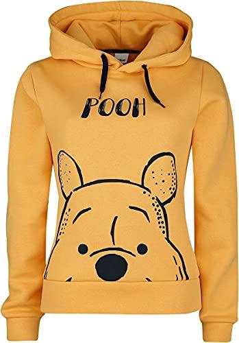 Winnie the Pooh Face Frauen Kapuzenpullover gelb M