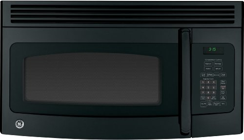GE JNM3163DJBB Over-The-Range Microwave Oven, 1.6 cu. ft., 1000W, Black