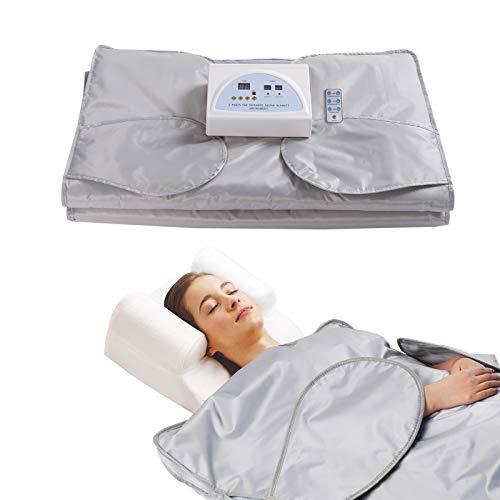 SurmountWay Sauna Blanket Detox Far Infrared, Professional Body Shaper Sauna Slimming Blanket Detox Therapy Machine Fitness(Upgrade Silver)