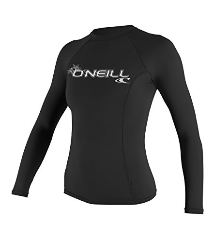 O\'Neill Wetsuits Damen Basic Skins Long Sleeve Rash Guard Vest, Black, M