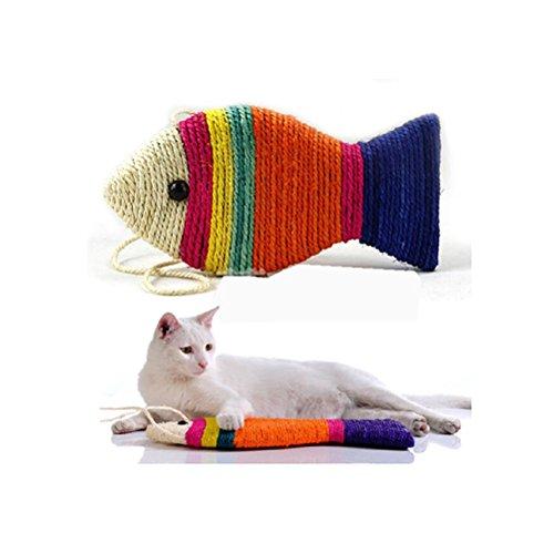 NUOLUX Tiragraffi Pesce per Unghie Gatti (Colore Casuale)